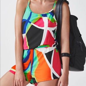 Fabletics Neema Rompers Popsicle Print Size M